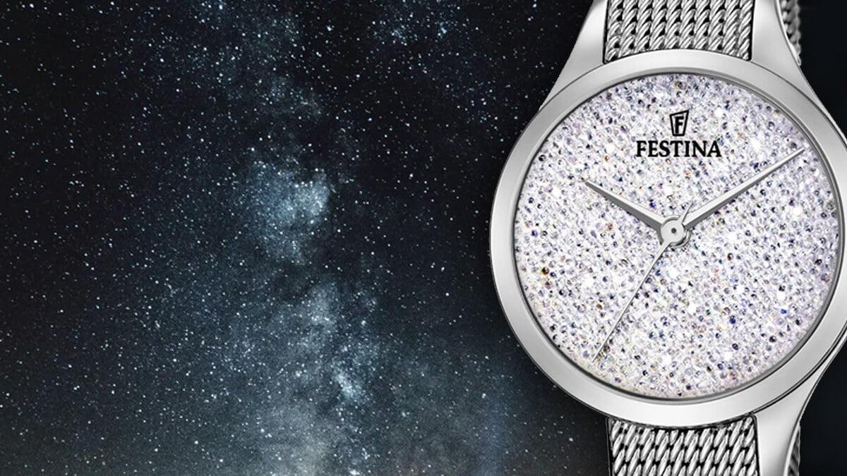 Zegarek damski Festina Swarovski to świetny dodatek dla eleganckiej kobiety