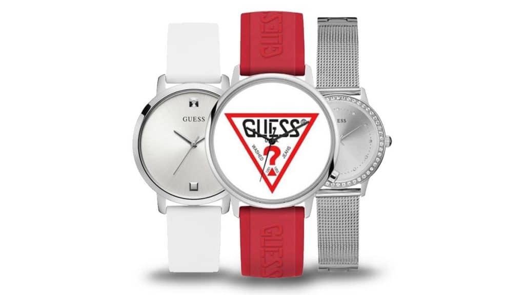 Ekstrawagancki damski zegarek Guess w różnych stylach i kolorach
