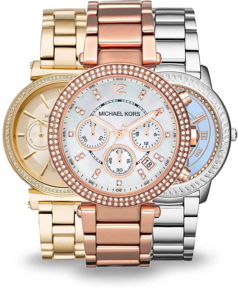 Złote i srebrne zegarki damskie Michael Kors