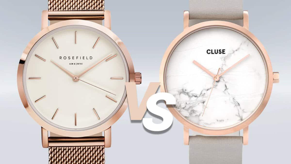 Pojedynek minimalistycznych zegarków Rosefield i Cluse