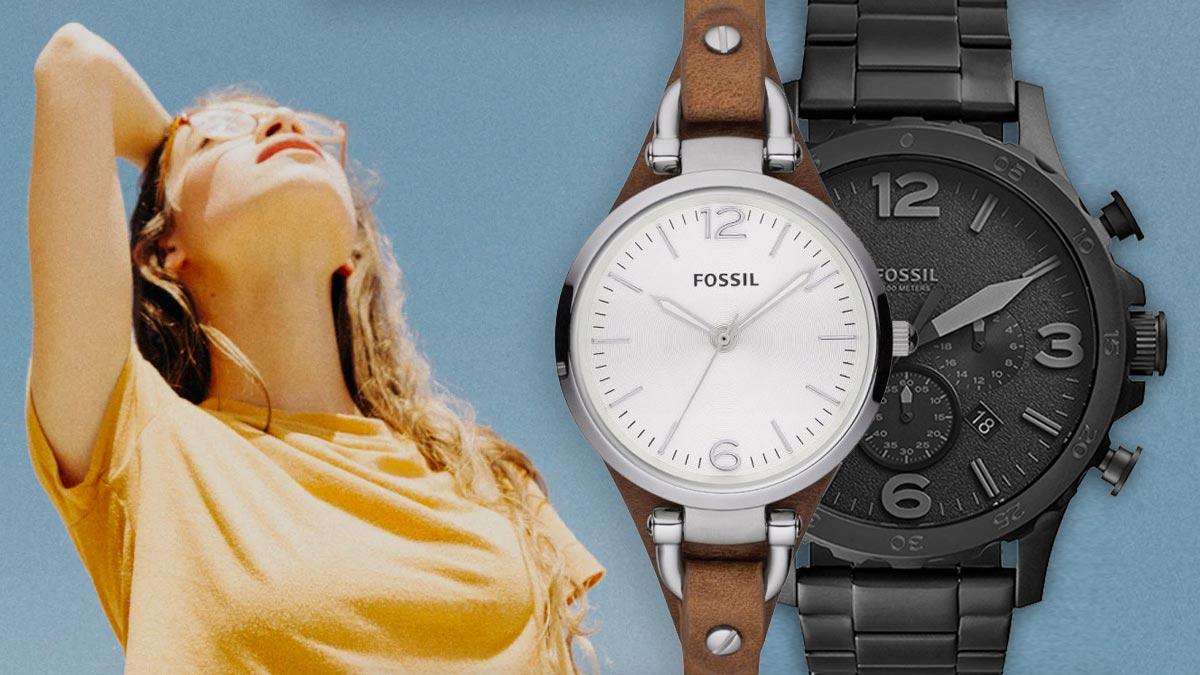 Stylowy zegarek Fossil w stylu vintage