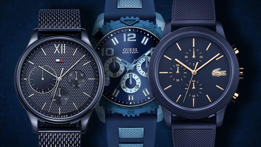 Niebieski zegarek dla dżentelmena