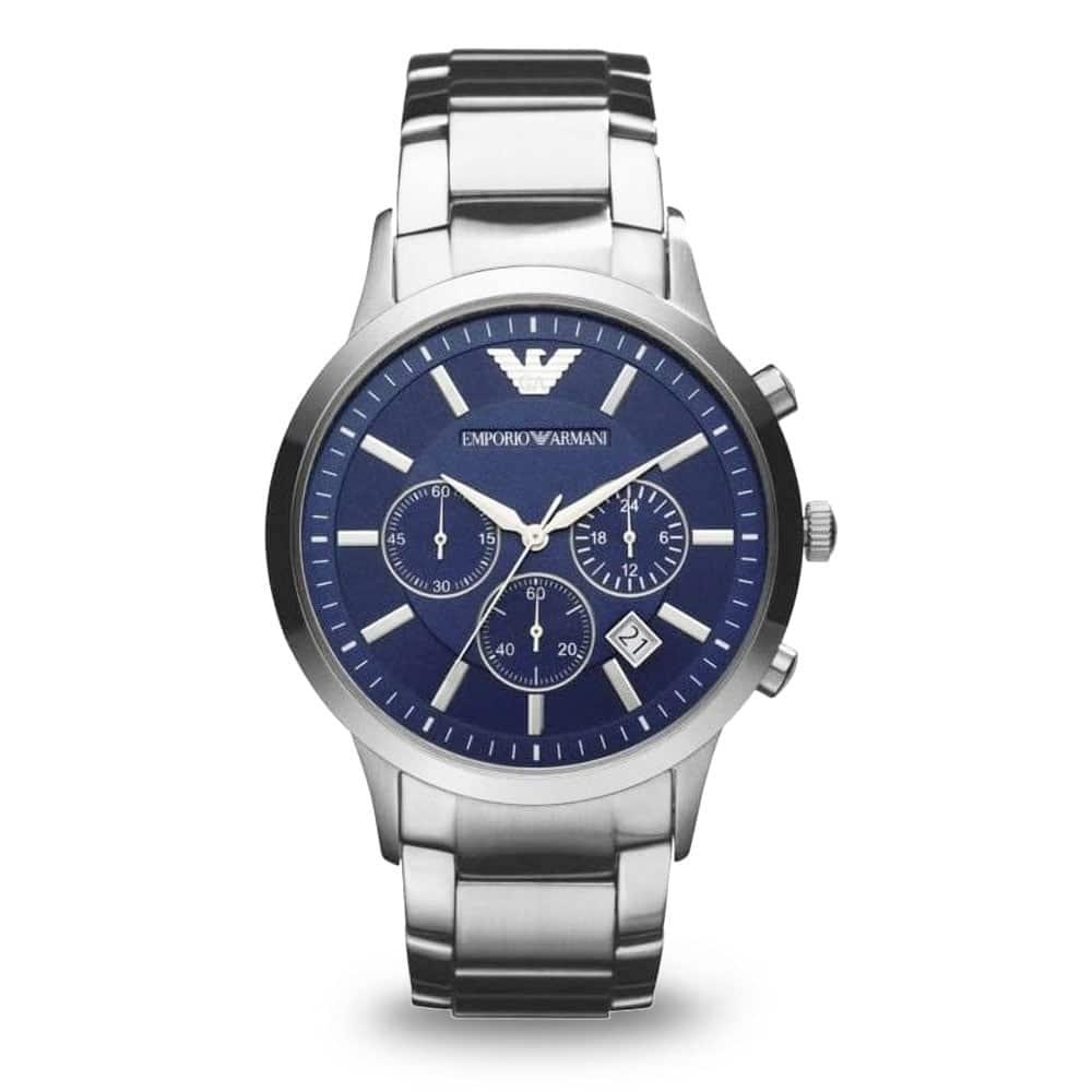 Zegarek Armani z niebieską tarczą