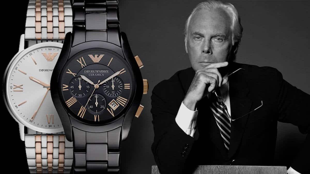 Kultowy męski zegarek Emporio Armani od jednej z najbardziej wpływowych osób w świecie mody