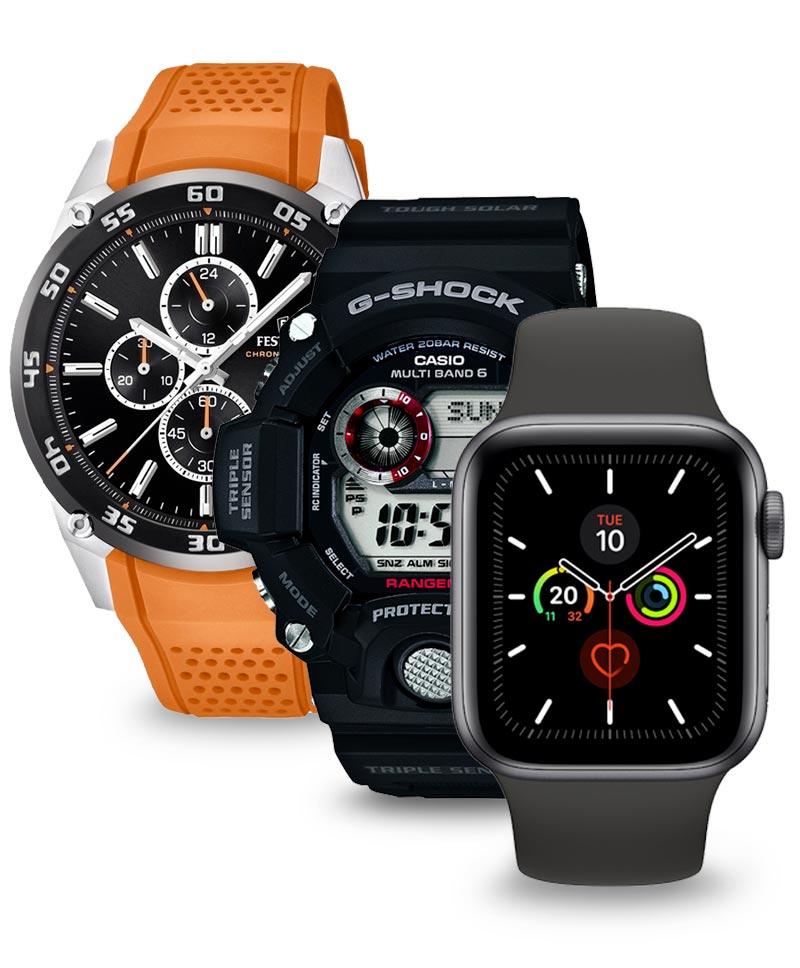 Sportowe zegarki - Festina, Casio, Apple