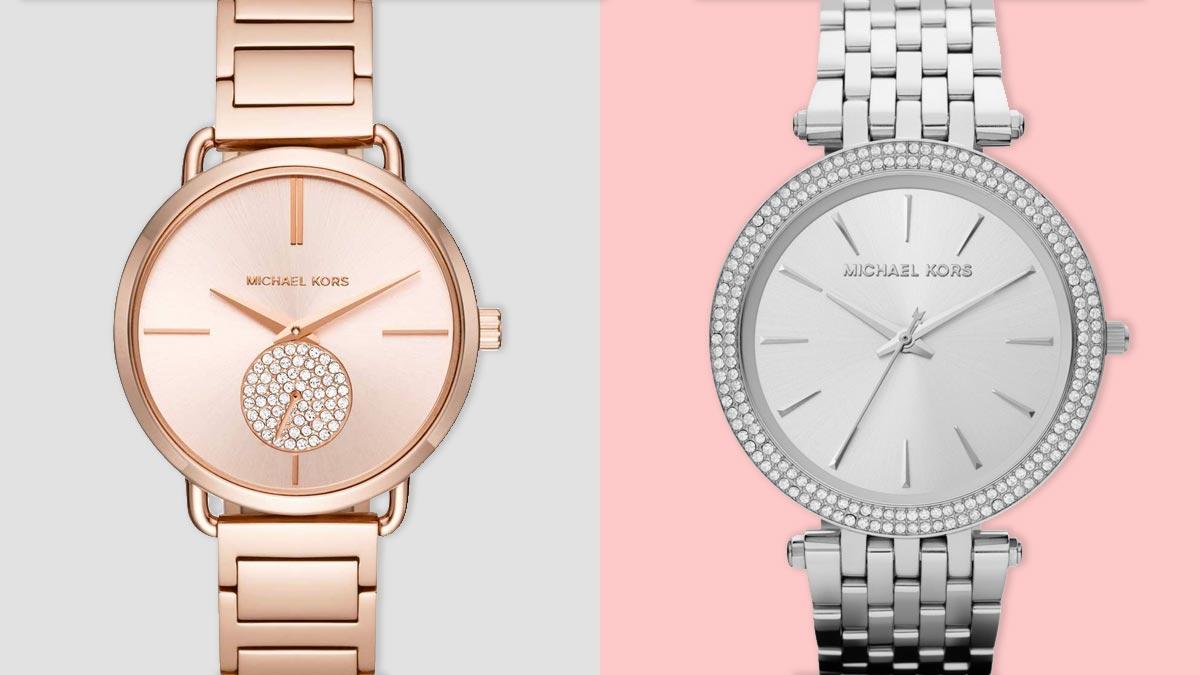 Srebrne i różowe zegarki damskie to popularne kolory zegarków damskich