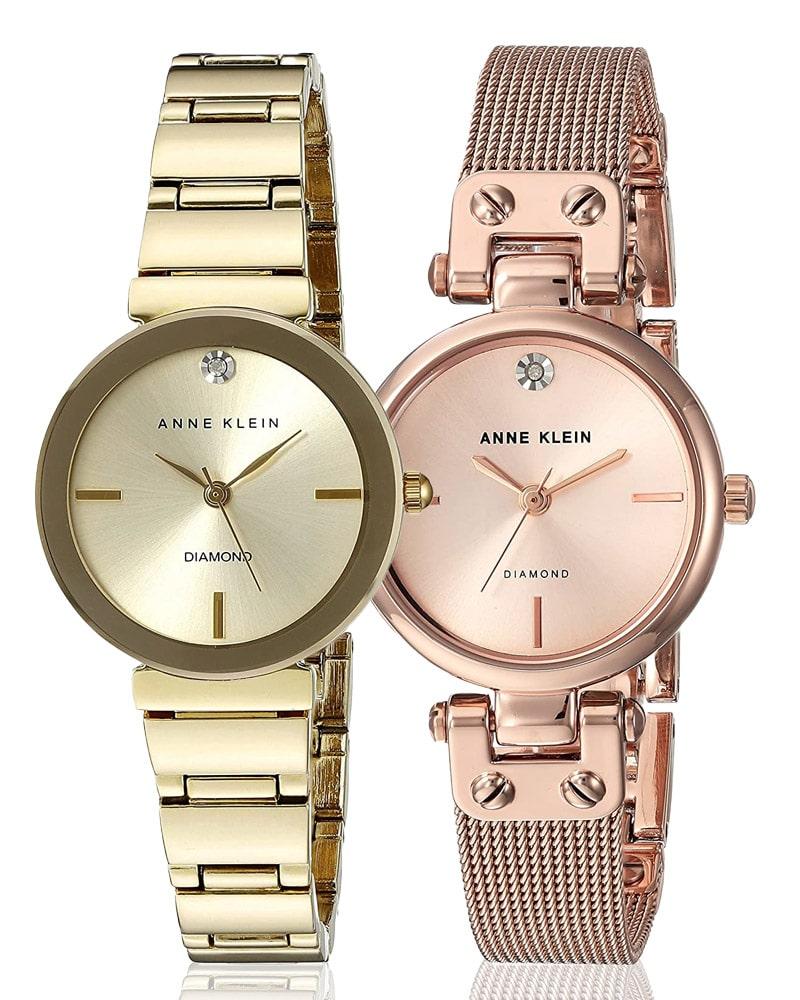 Damski zegarek Anne Klein w kolorze złotym i różowo-złotym