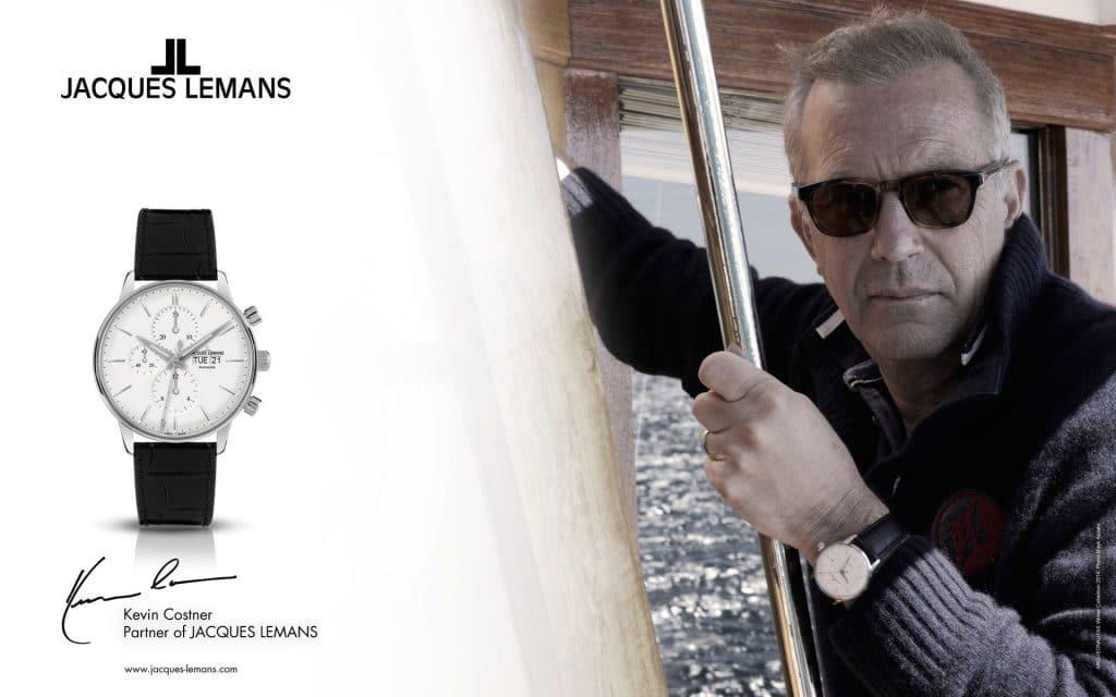 Jacques Lemans i była twarz marki - aktor Kevin Costner