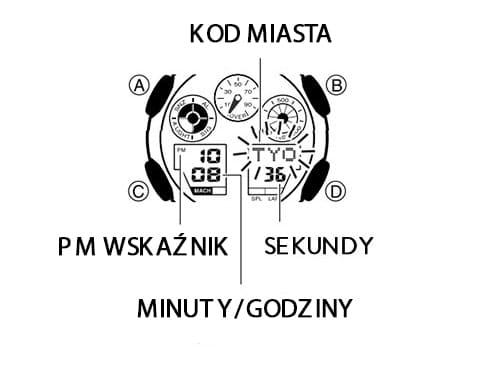 Casio g-shock ustawienie czasu