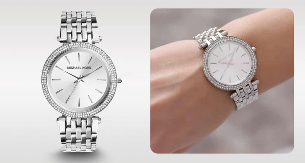 Ponadczasowy srebrny damski zegarek Michael Kors MK3190