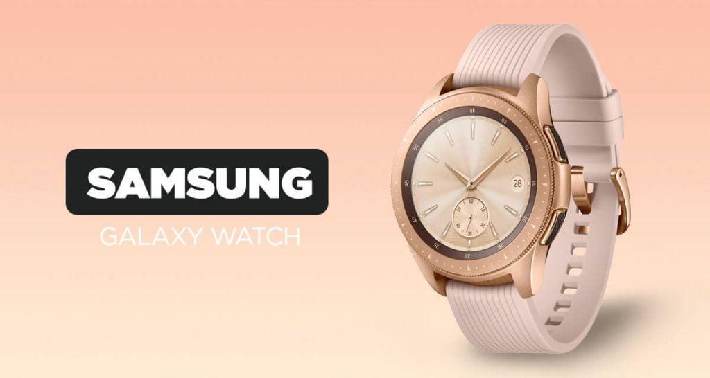 Przyciągający wzrok inteligentny zegarek dla kobiet Samsung Galaxy Watch w kolorze różowego złota