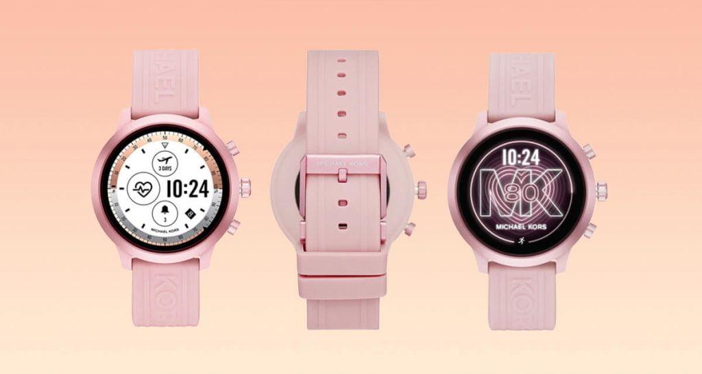 Różowy damski inteligentny zegarek Michael Kors