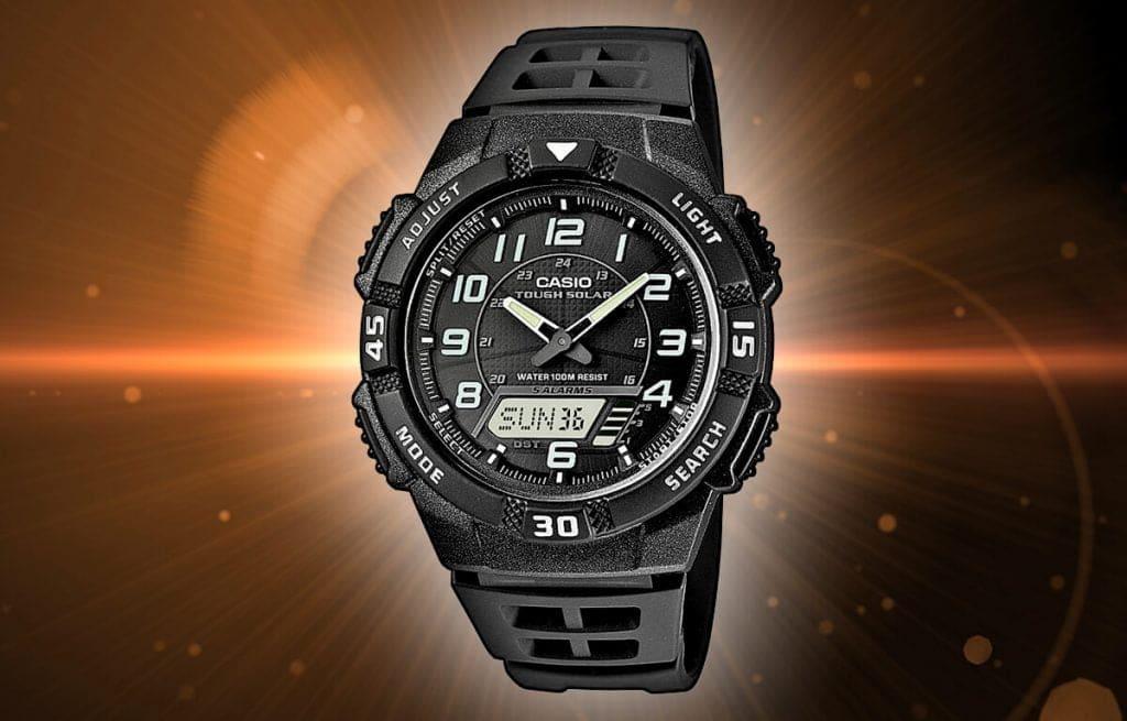 Męski zegarek zasilany energią słoneczną - Casio Tough Solar