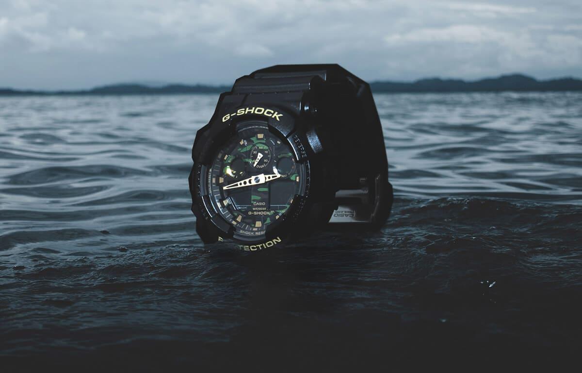 Zegarek wojskowy Casio G-Shock z tarczą w kamuflażu