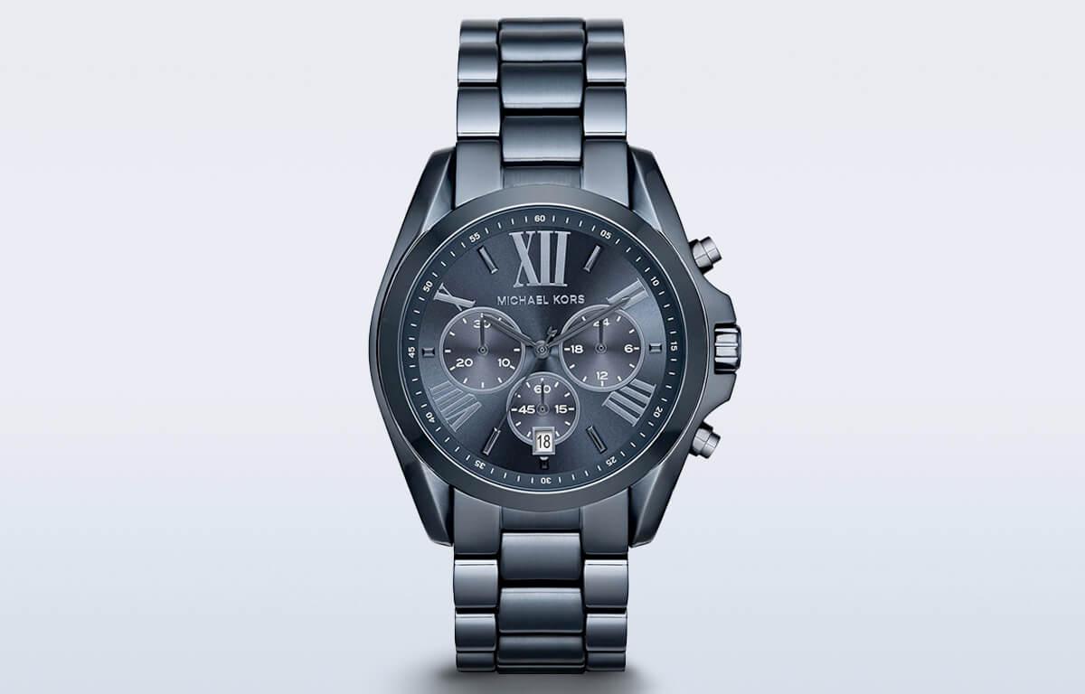 Granatowy męski zegarek Michaela Korsa