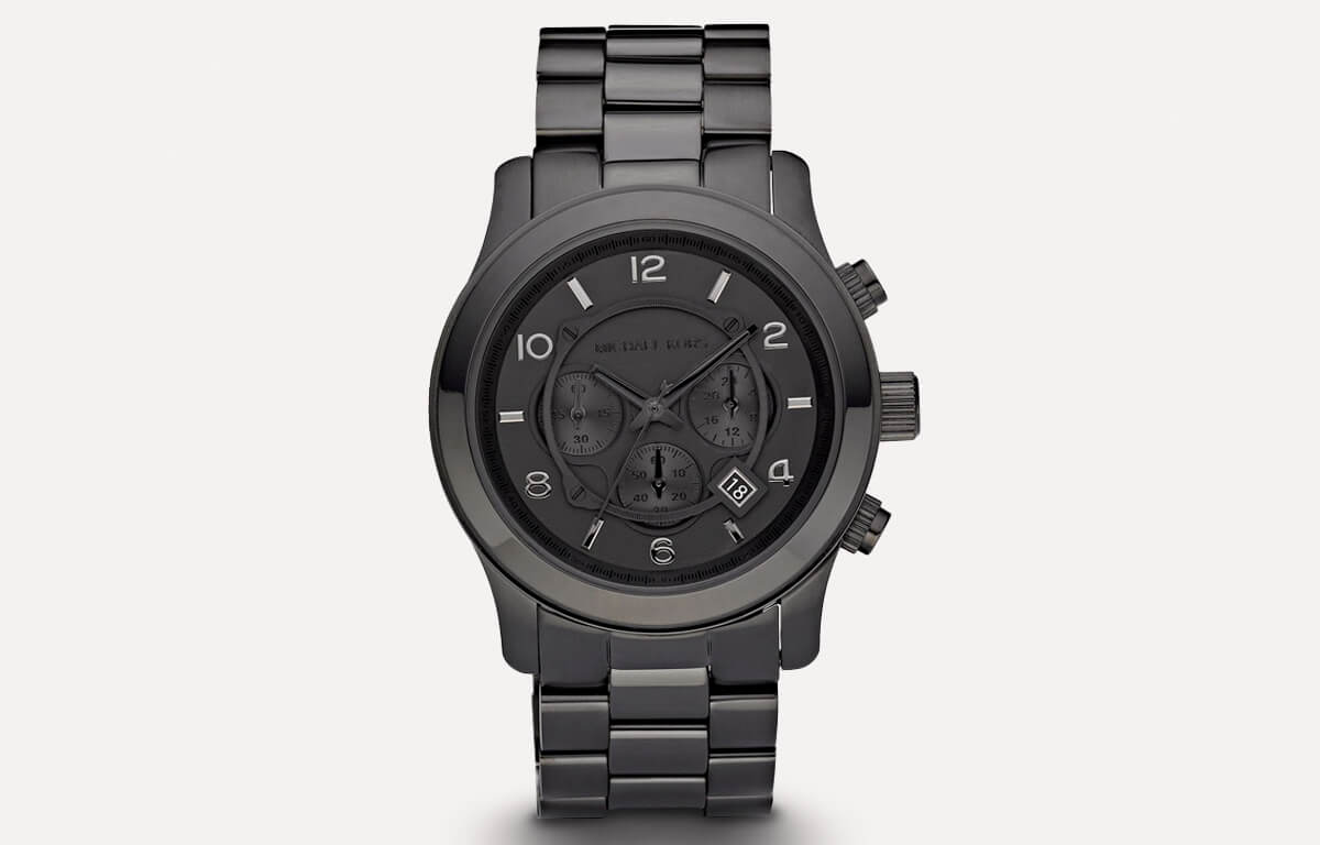 Czarny męski zegarek Michael Kors MK6248