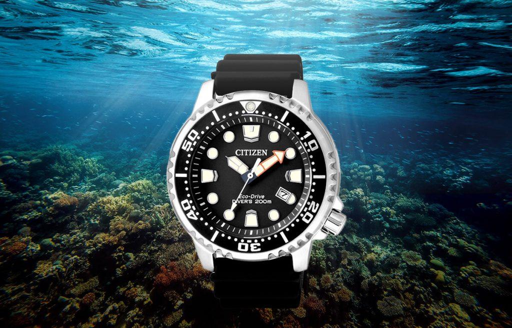 Stylowy zegarek nurkowy Citizen BN0150-10E z silikonowym paskiem