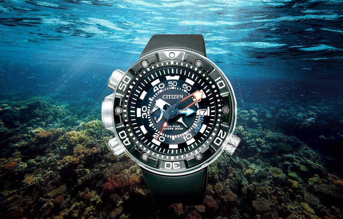 Zegarek nurkowy Citizen BN2024-05E z wytrzymałą obudową