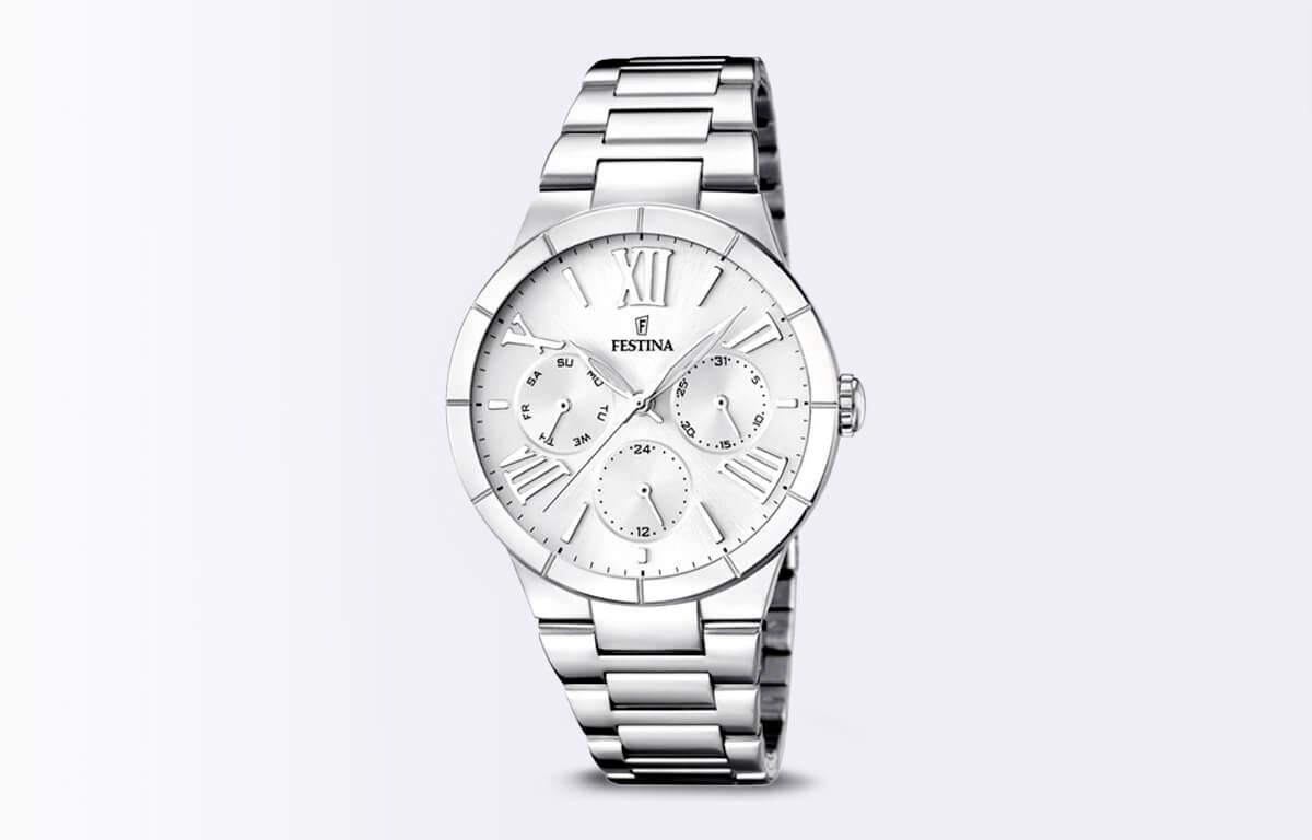 Srebrny zegarek Festina Mademoiselle