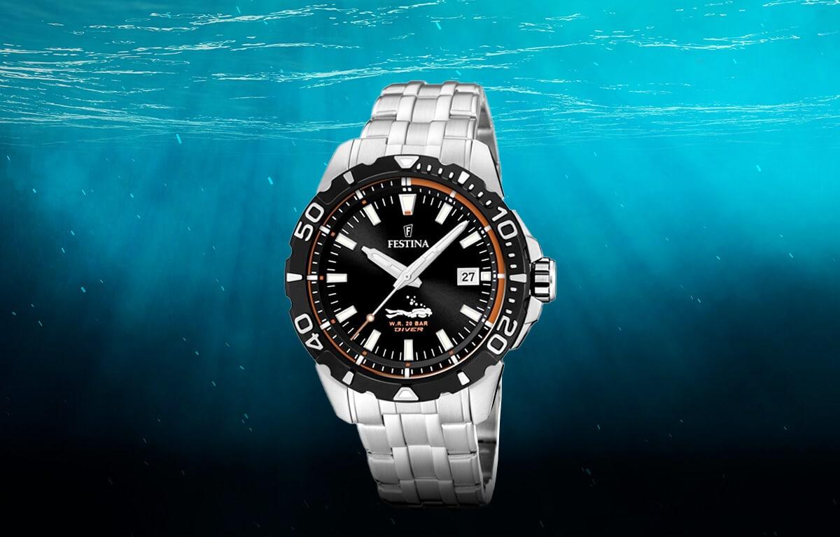 Tani męski zegarek nurkowy Festina The Originals Divers