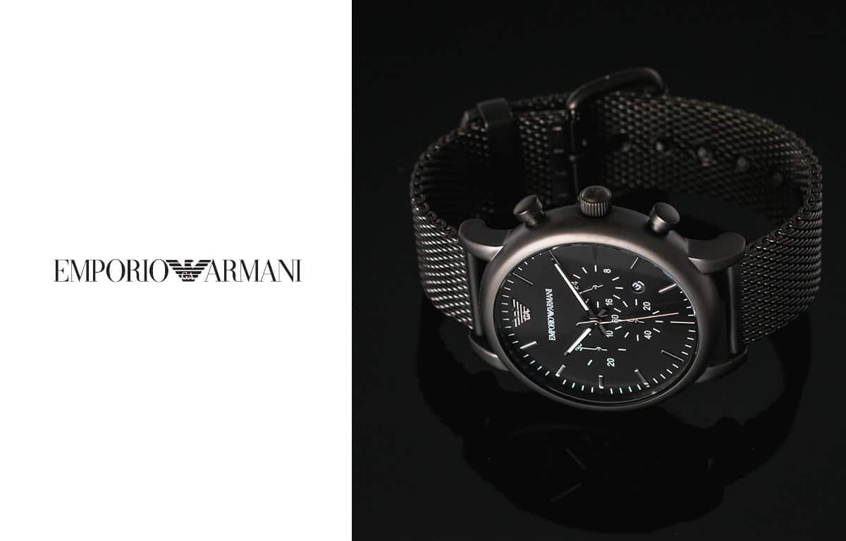 Męski zegarek Emporio Armani w eleganckiej czerni