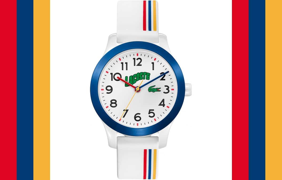 Kolorowy zegarek dla dzieci Lacoste