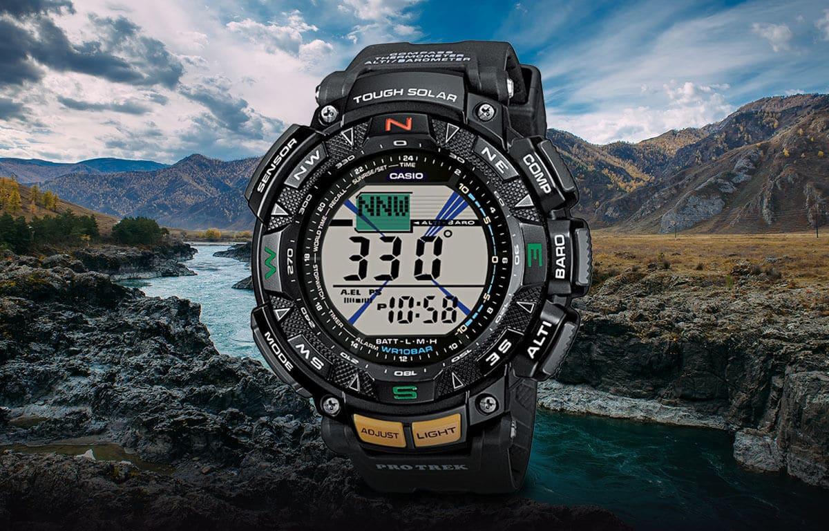 Wielofunkcyjny zegarek outdoorowy z edycji Casio Pro Trek