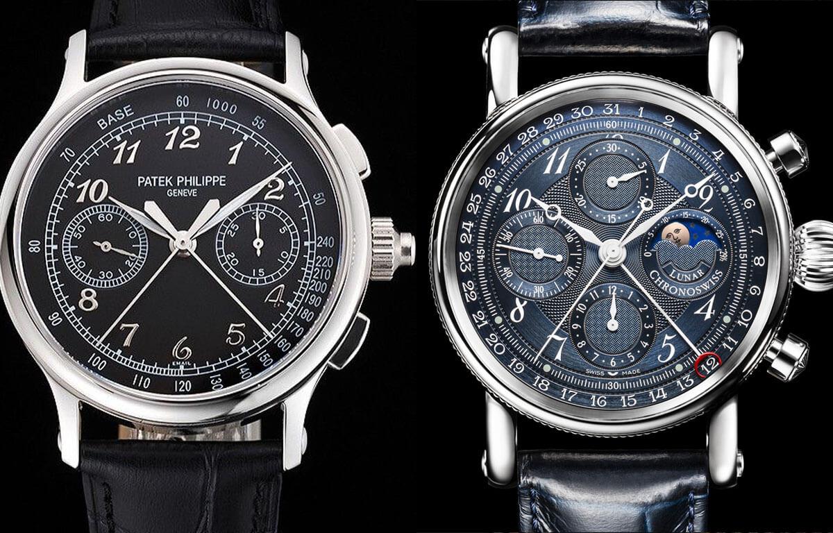 Liczba chronografów może się różnić w zależności od zegarka