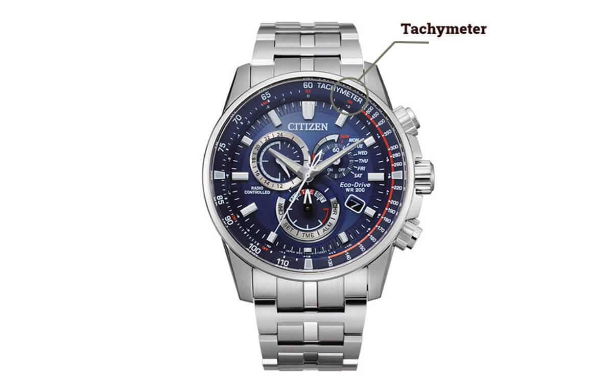 Tachometr na zegarku Citizen