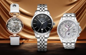 Luksusowe zegarki damskie firm Zeppelin, Victorinox i Citizen