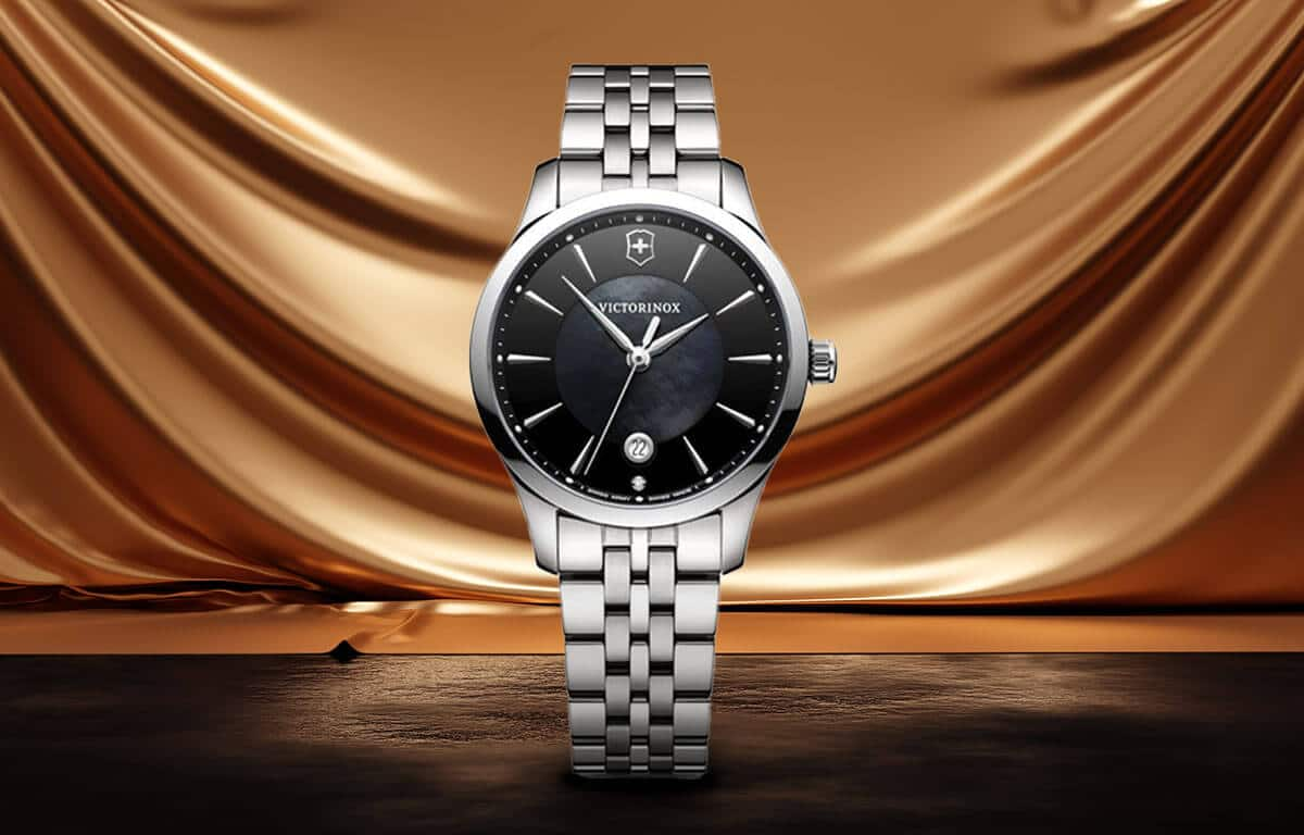 Luksusowy damski zegarek Victorinox z czarną tarczą