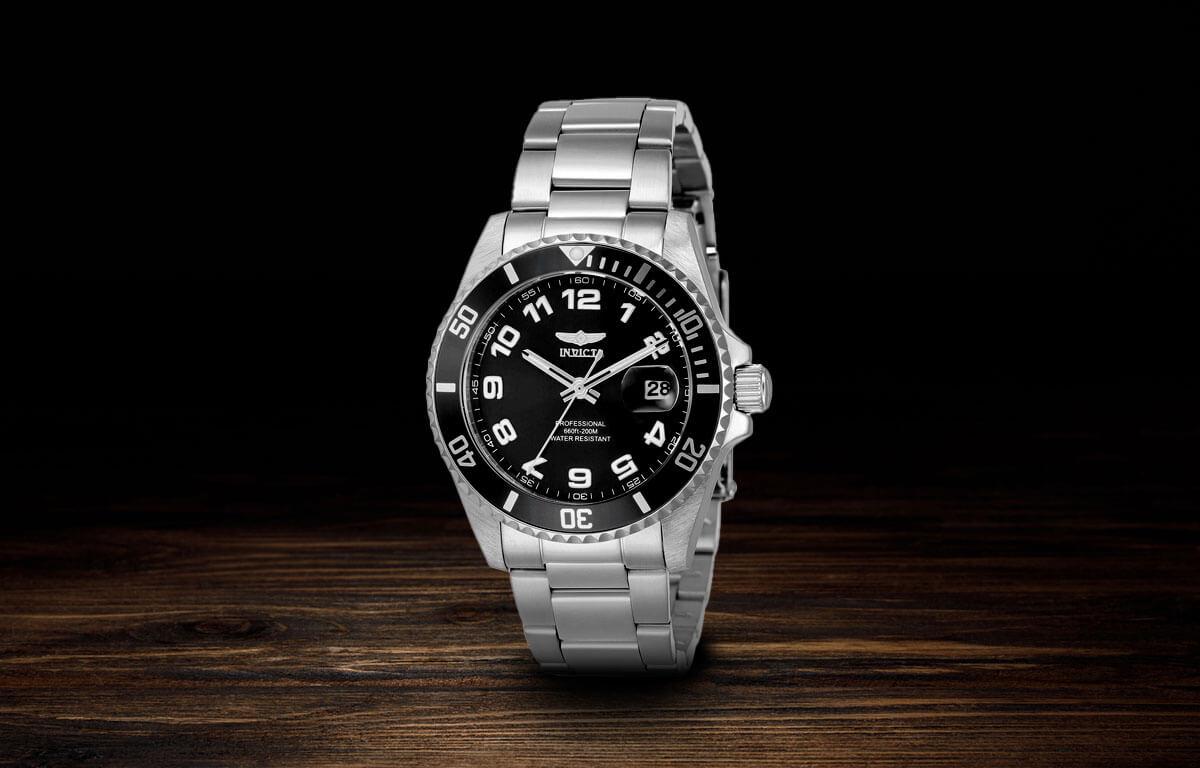 Srebrne zegarki damskie Invicta Pro Diver