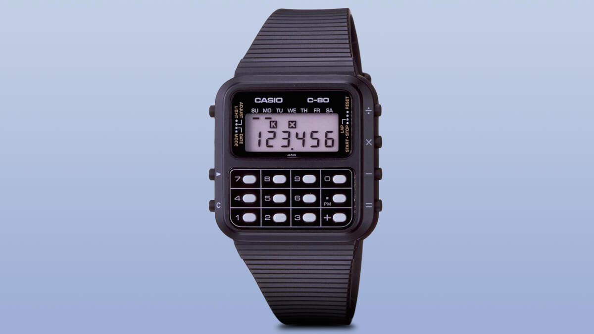 Casio C-80 – jeden z pierwszych zegarków z kalkulatorem